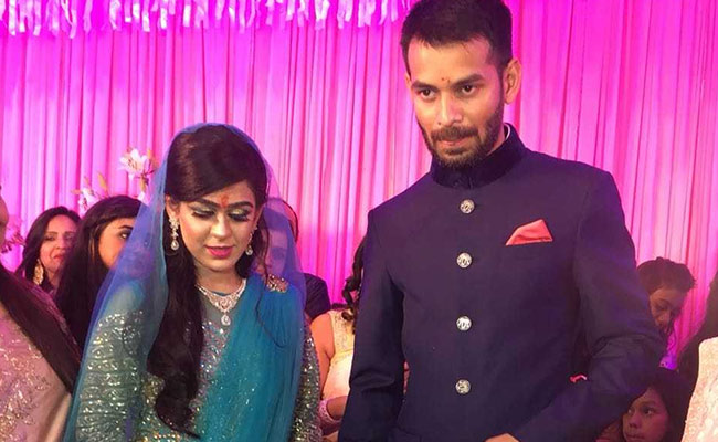 Lalu son Tej Pratap Yadav got engaged to Aishwarya Rai at Hotel Maurya in Patna.