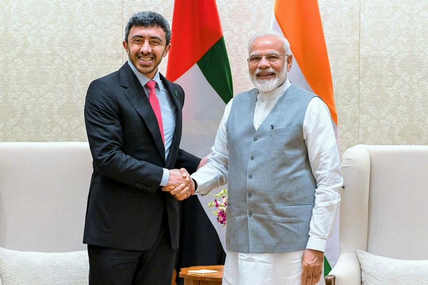 UAE Foreign Minister calls on PM Modi in New Delhi