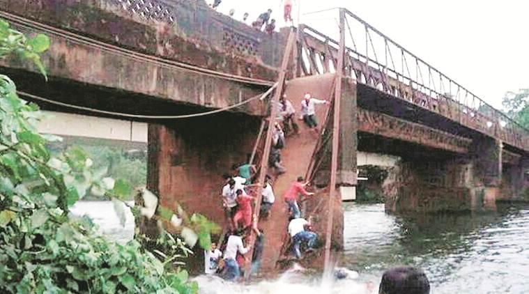 2 dead as bridge collapses in Goa
