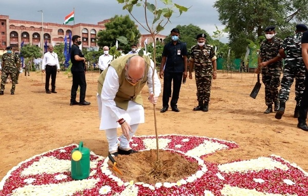Amit Shah launches CAPFs nationwide tree plantation drive