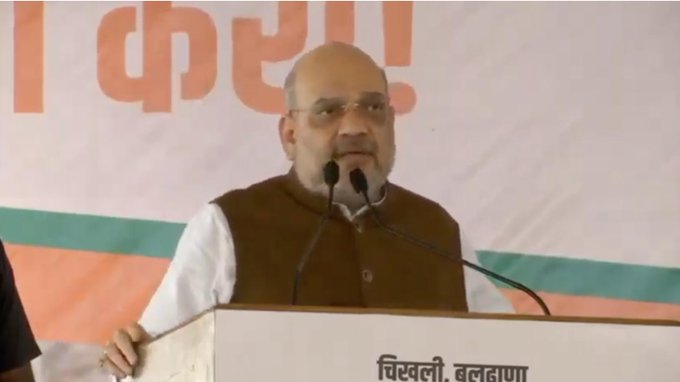 Congress, NCP work for their families, we for India: Amit Shah