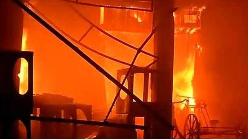 Fire breaks out in New Delhi