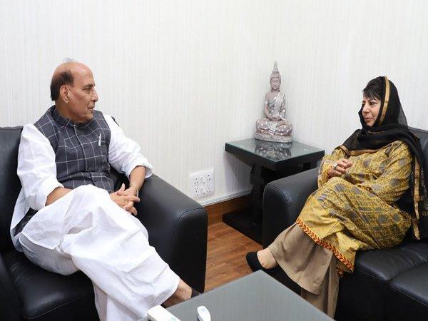 J&K CM Mehbooba and Rajnath discuss spurt in violence in Kashmir Valley
