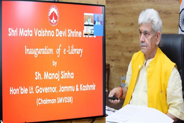 LG Manoj Sinha releases silver souvenir coin, inaugurates e-library
