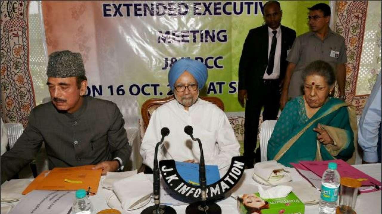 Congress key panel led by Manmohan Singh meets today on Kashmir