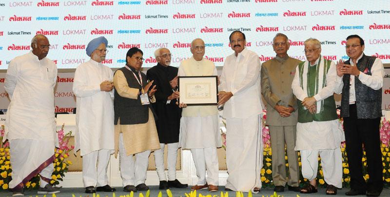 LK Advani receives Lifetime Achievement award