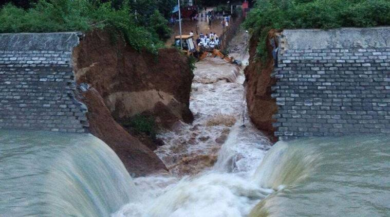 Rs 389-cr Bihar irrigation canal collapses hours before inauguration by Nitish