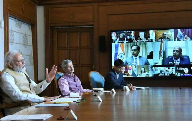 PM Modi holds video conference with Heads of Indian Embassies, High Commissions