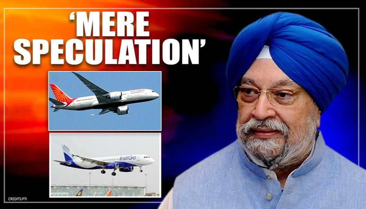Civil Aviation Minister Hardeep Singh Puri calls reports of flights resumption after April 14 as