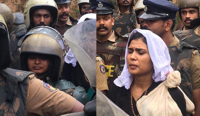 Two women return after Sabarimala head priest threatens to shut shrine