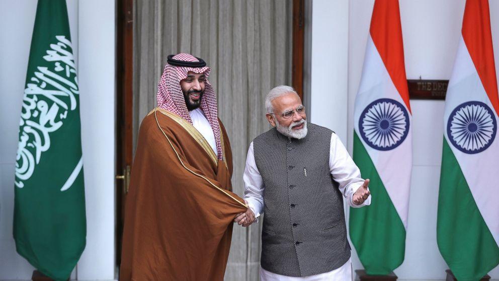 Saudi crown prince backs India