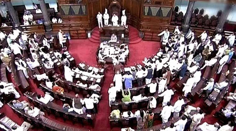 Opposition protest over different types of currency disrupt Rajya Sabha