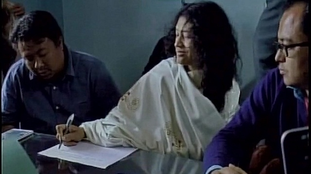 Irom Sharmila files nomination from Thoubal constituency in Manipur