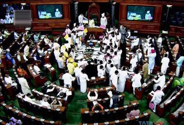 LS adjourned amid slogan shouting by Congress members