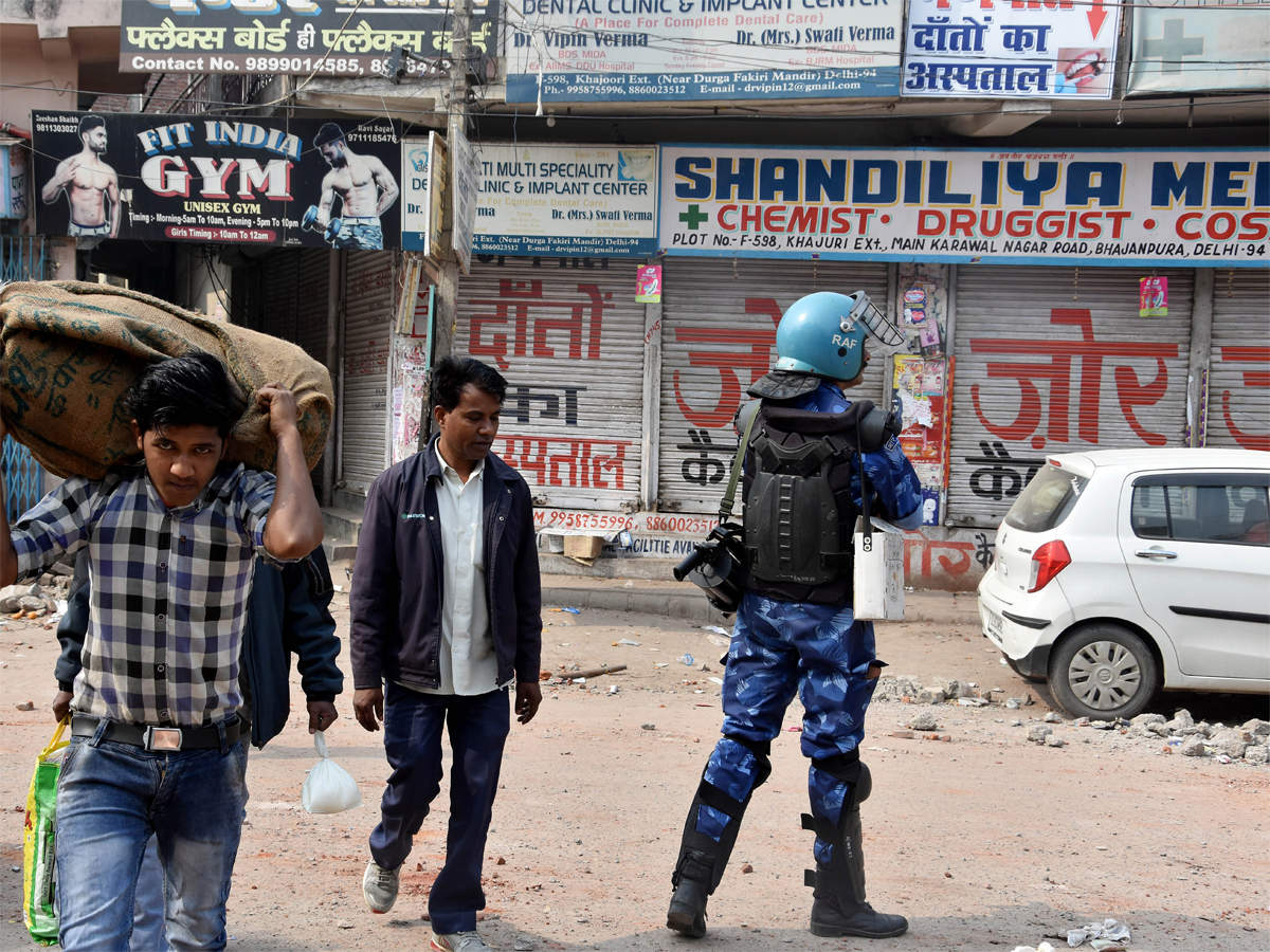Shops shut, eerie calm prevails in riot-hit areas of northeast Delhi