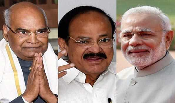 Chandrayaan-2 successfully launched; Prez, VP and PM congratulate ISRO