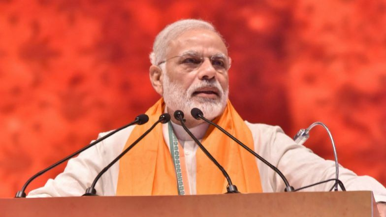 PM Modi hands over keys to beneficiaries of govt housing scheme in Maharashtra
