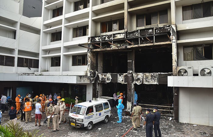 Fire breaks out at COVID-19 care facility in AP, ten patients killed