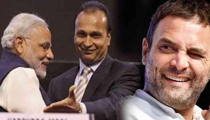 Rahul Gandhi takes dig at Modi-Anil Ambani, tweets iconic