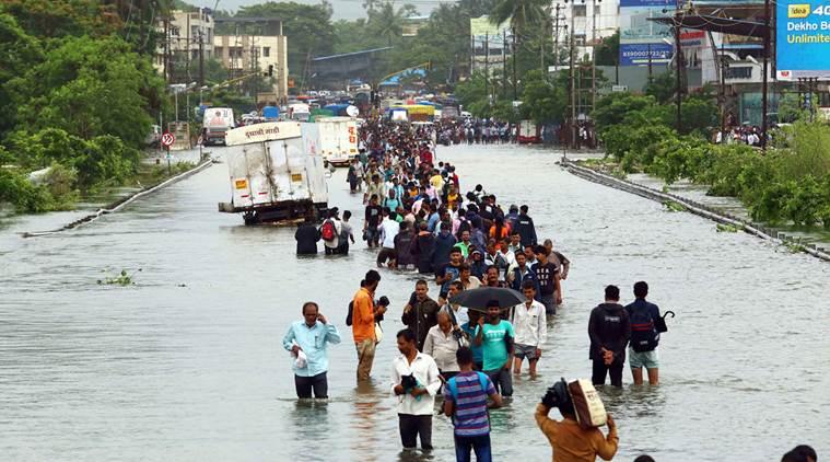 Bridge washed away after heavy rain in Palghar district, Maharashtra