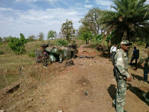 12 security personnel injured in a landmine blast at Kunta bordering Telangana