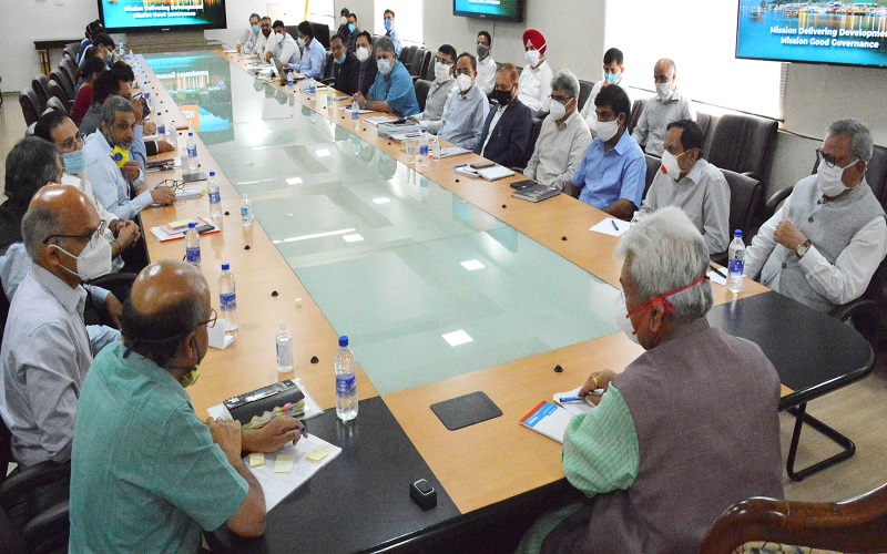 J&K LG Manoj Sinha chairs high level meeting with Administrative Secretaries