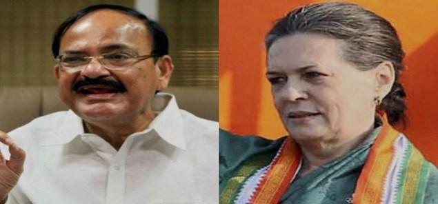 Govt Knock Congress Door again over GST, Venkaiah meets Sonia