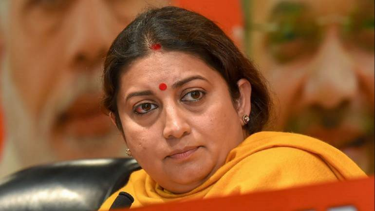 Government seeks apology from Congress MPs for behaviour towards Smriti Irani in Lok Sabha