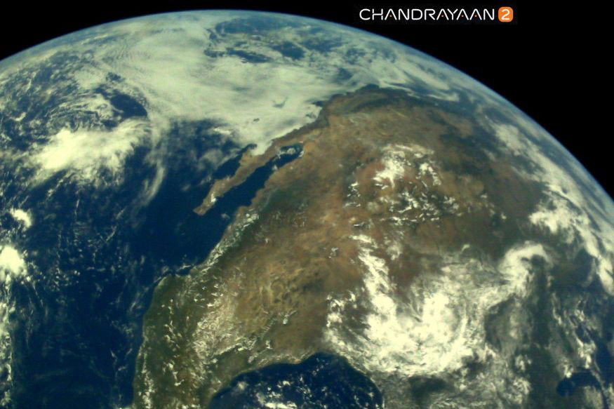 ISRO releases first set of earth pictures taken by Chandrayaan 2