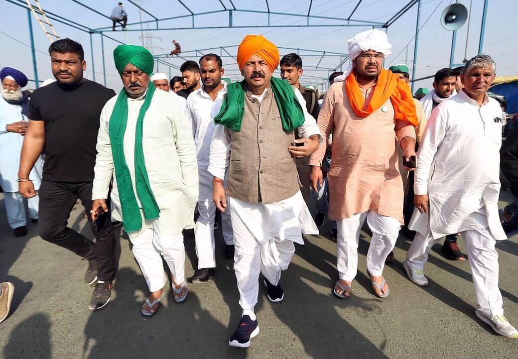 BKU President Naresh Tikait calls Rajnath Singh a