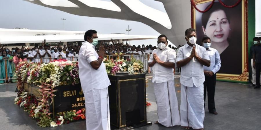 Jayalalithaa memorial inaugurated in TN by CM