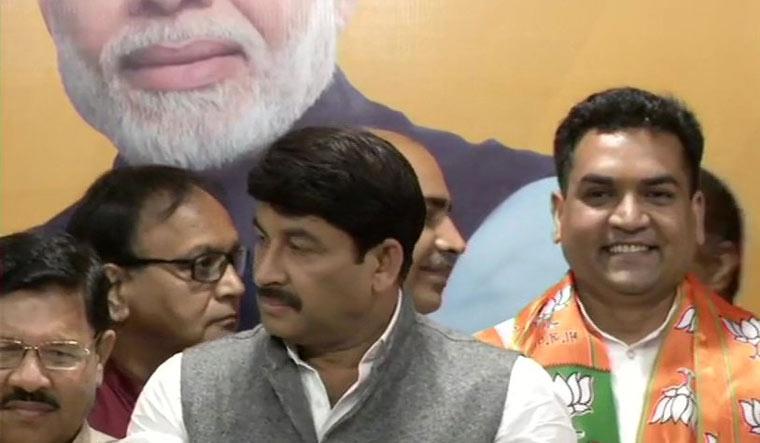 Former AAP minister Kapil Mishra joins BJP