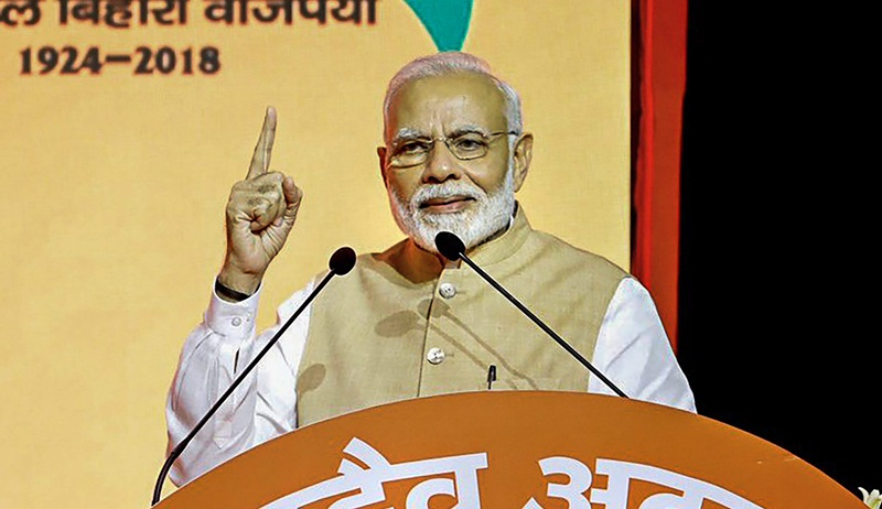 PM Modi says, he sees no challenge to BJP in the coming general elections