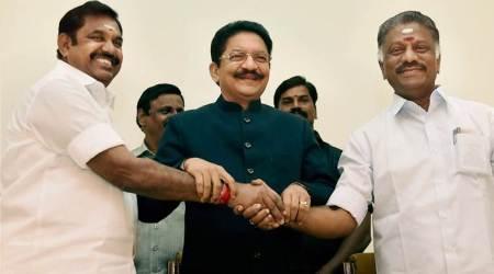AIADMK merged: Panneerselvam takes oath as Deputy CM, Sasikala to be sacked