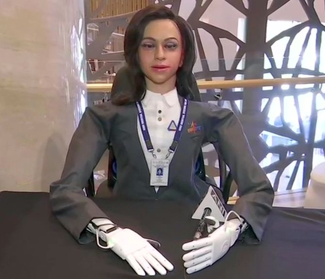 Meet female robot