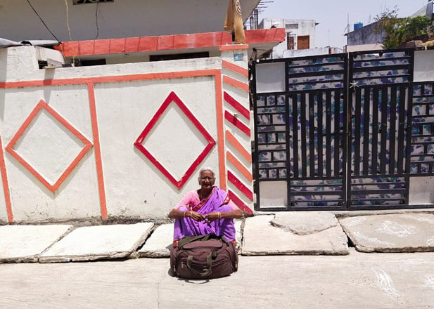 Old woman aged 70 yrs denied entry into house after returning back from Maharashtra