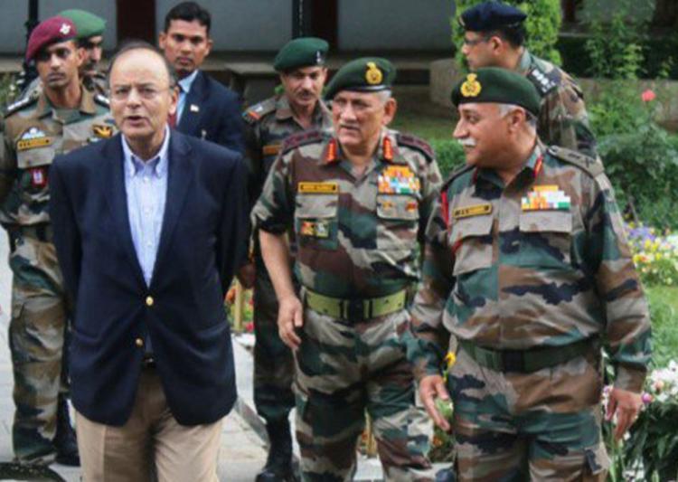 Arun Jaitley tells Army to be vigilant along LoC