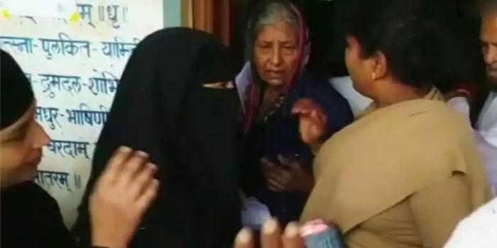 Muslim woman asked to remove burkha, stopped at Karnataka polling booth