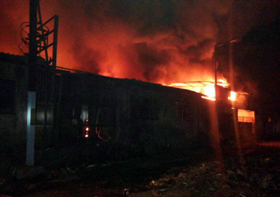 Fire engulfs in a factory in Bhiwandi
