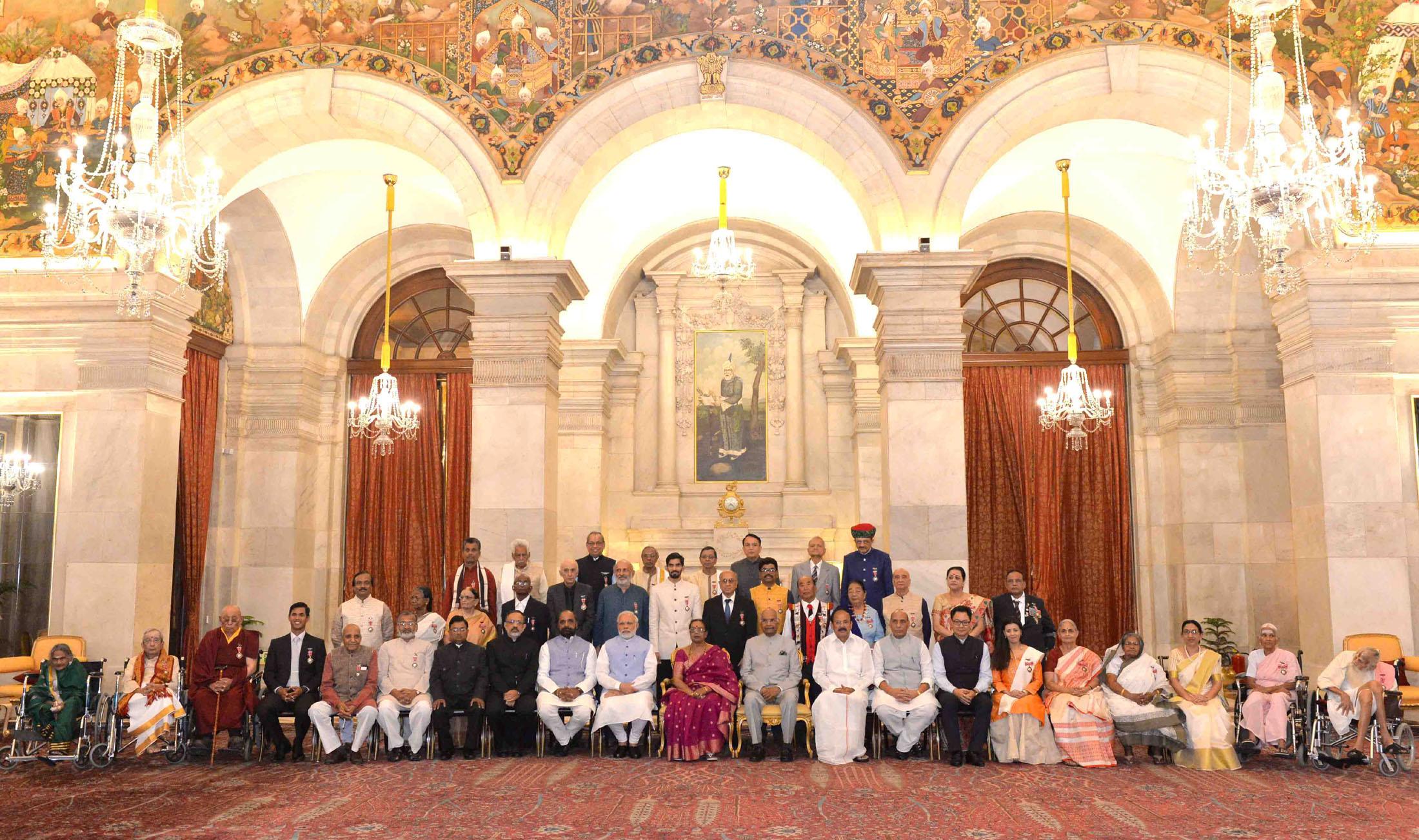 President Ram Nath Kovind confers Padma Awards to 43 personalities