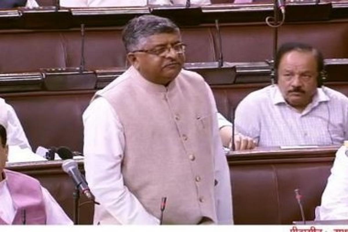 Law Minister Ravi Shankar Prasad moves Triple Talaq bill in Rajya Sabha