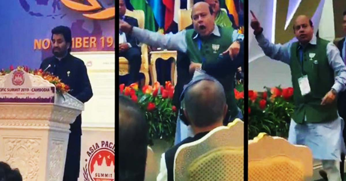 BJP leader Vijay Jolly thrown out of Asia Pacific Summit for disrupting Pakistan