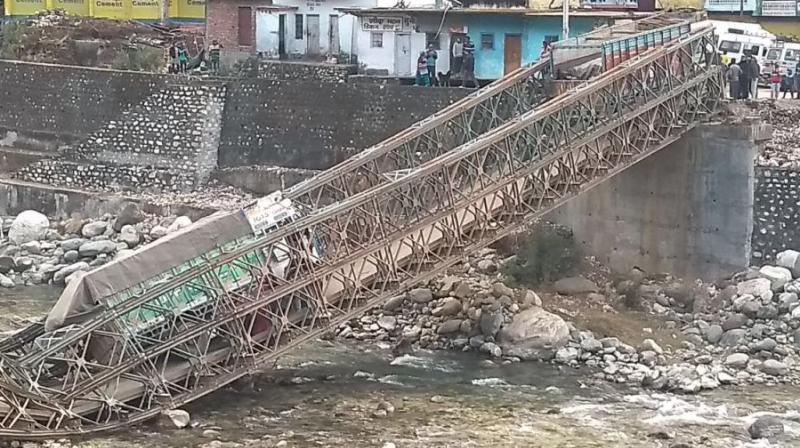Lone Bridge linking Uttarkashi to China border collapses, disconnects dozens of villages