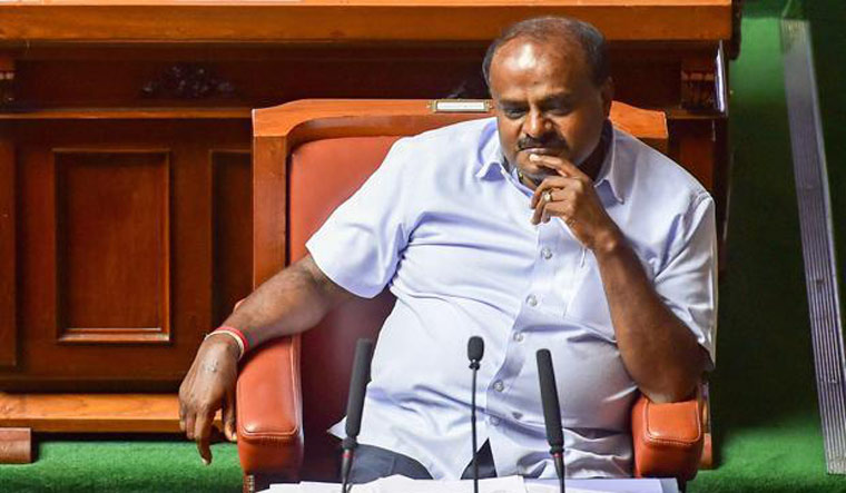 Karnataka CM Kumaraswamy to seek trust vote, asks Speaker to fix time