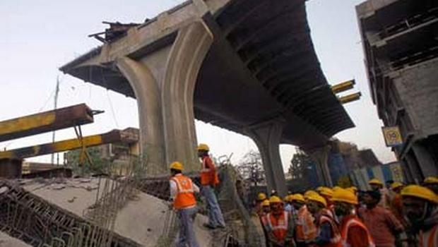 Under-construction flyover collapses in Kolkata; 10 dead
