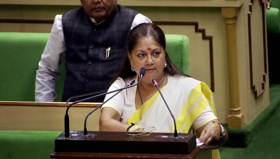Rajasthan CM Vasundhara Raje to present budget today