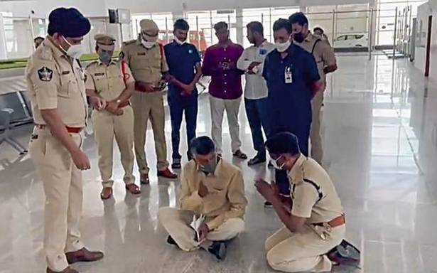 TDP chief Chandrababu Naidu detained at Tirupati airport