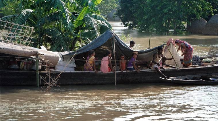 Rain hits normal life in Assam
