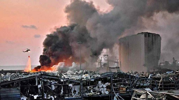 Lebanon PM Says 2,750 Tonnes of Ammonium Nitrate Exploded in Beirut Port, Promises Stern Action