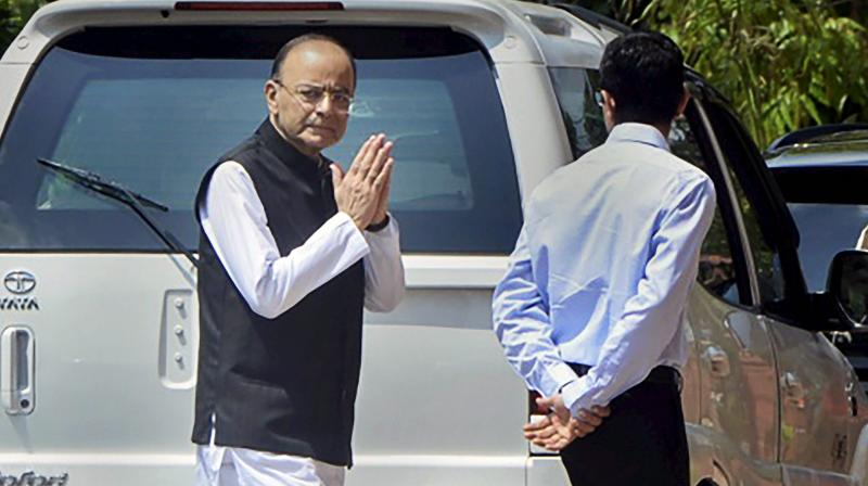 After three month hiatus, Arun Jaitley attends Parliament for first time today